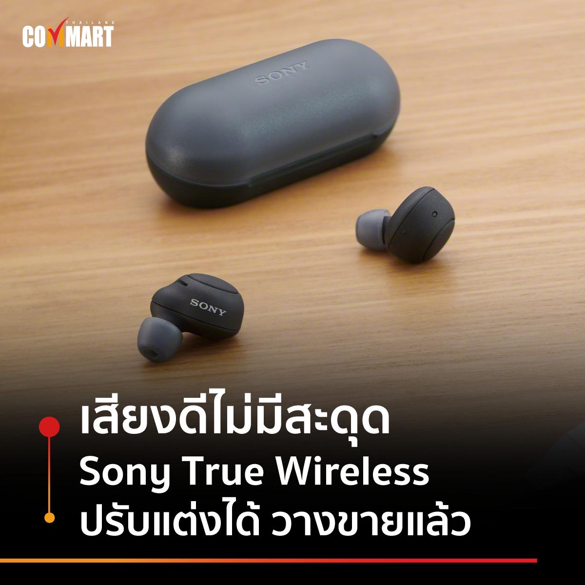 เสียงดีไม่มีสะดุด Sony True Wireless ปรับแต่งได้ วางขายแล้ว